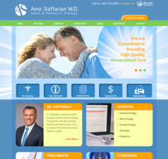 Amir Saffarian, MD website homepage