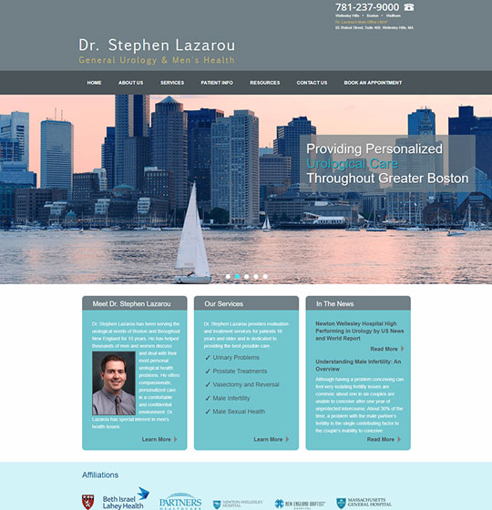 Dr. Stephen Lazarou website homepage