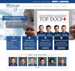 Michigan Kidney Consultants website homepage