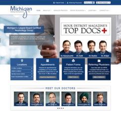 Michigan Kidney Consultants website homepage