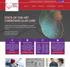 Suffolk Heart Group website homepage
