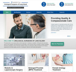 Urological Surgeons of Long Island website homepage