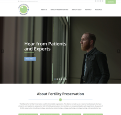 Alliance For Fertility Preservation website homepage